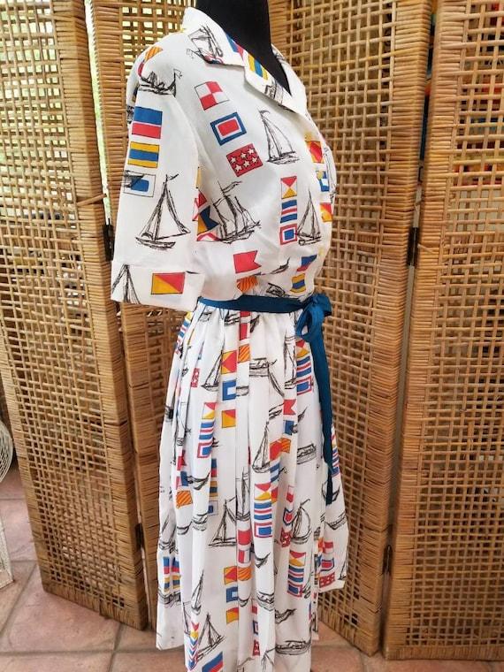 Nardis of Dallas nautical a line dress - image 4