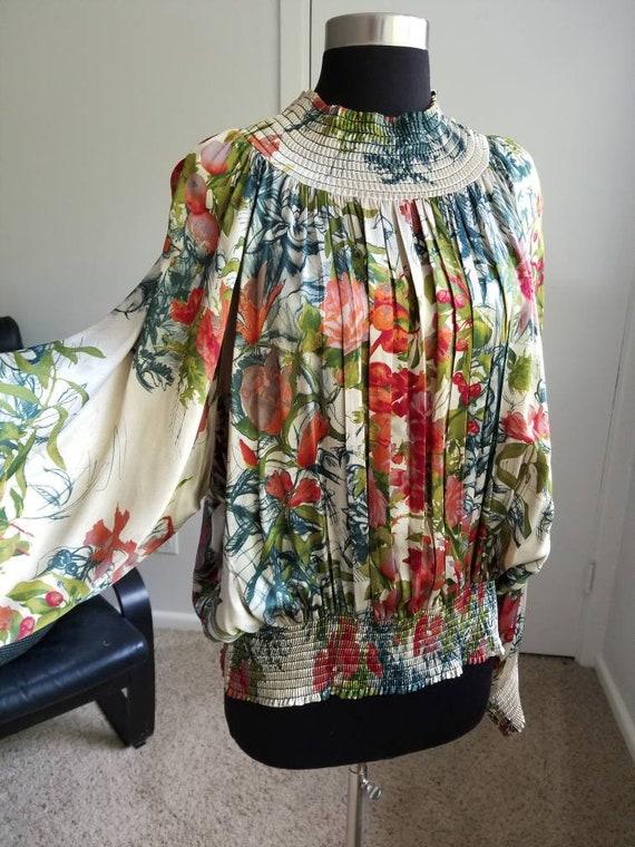 Jean Paul Gaultier smocked blouse
