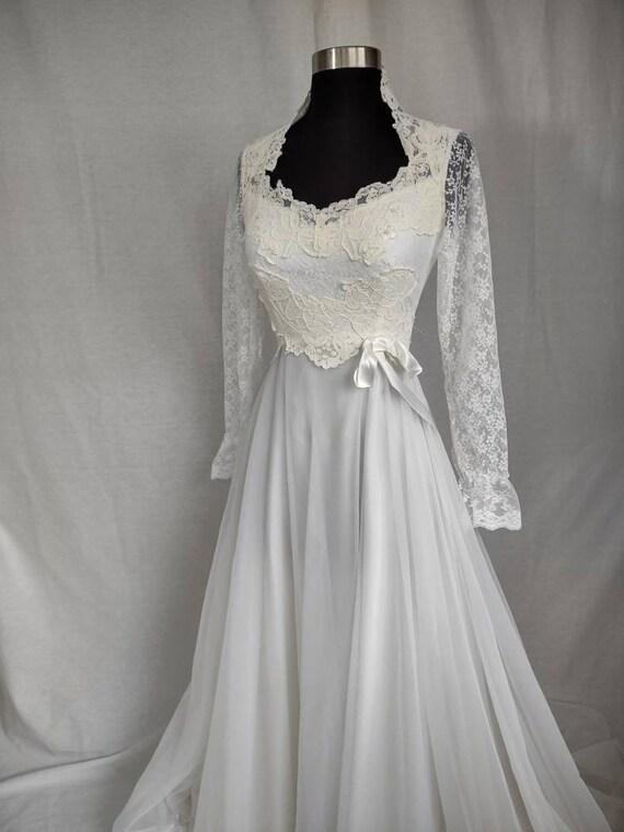 Late 1970s wedding dress xs