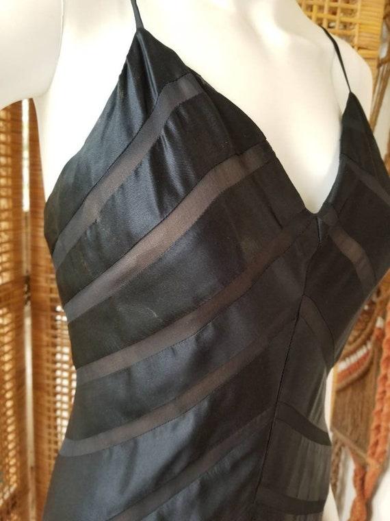 Beautiful black silk bias cut gown - image 7