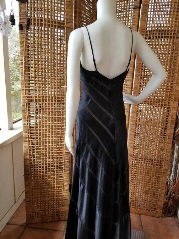 Beautiful black silk bias cut gown - image 6