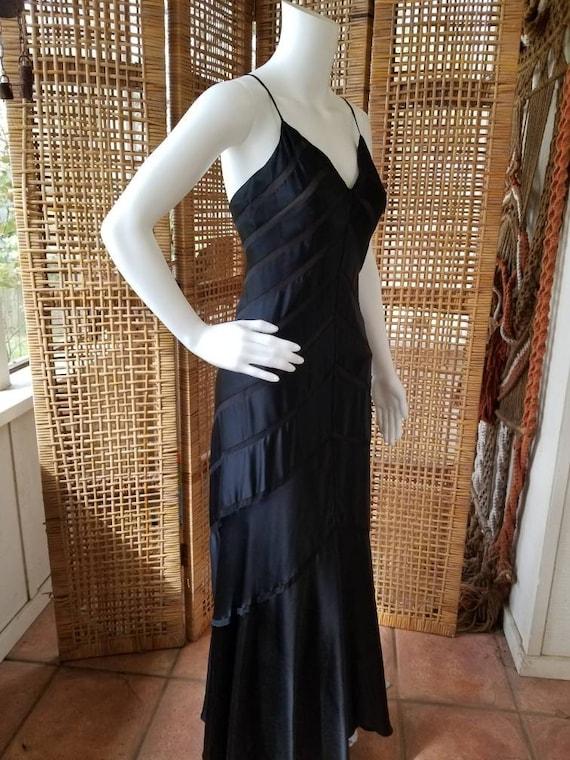 Beautiful black silk bias cut gown - image 9