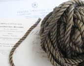1 yd Vintage Antique French Dark Gold Metallic Rope Cord Trim 3 8 quot Lampshade Pillow
