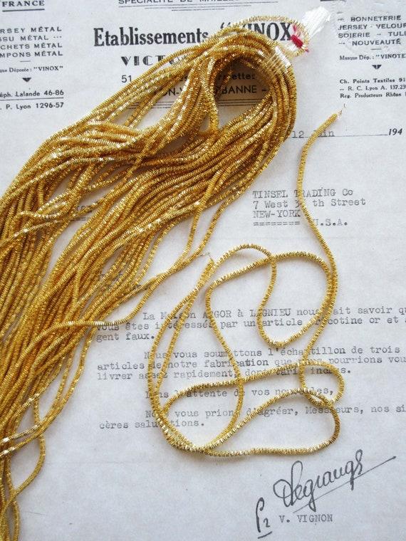 "/"" Tassels Amazing Price 6 Vintage//Antique French Dark Gold Metallic Bullion 4"