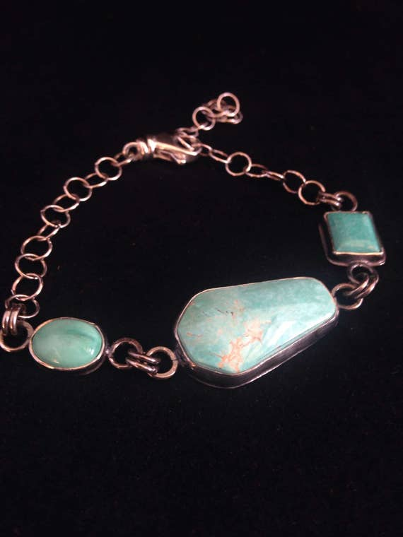 Handmade Jewelry, Southwestern, Blue Kingman, Sleeping Beauty, Royston Turquoise, Bracelet