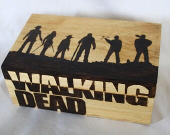 The Walking Dead based woodburned box