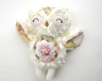 Plush Owl Rattle Toy Gift Baby