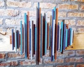 Custom Sound Wave Art, 2ft Colorful Wood Soundwave Wall Art, Unique Gift, Personalized, Sound Diffuser, Rustic Home Decor, Music Room
