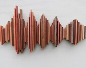 Custom 20inch Sound Wave Art, Wood Soundwave Wall Sculpture, Visual Representation of Sound, Song or Voice