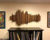 Custom 3ft Sound Wave Art, Wood SoundWave Art, Personziled Gift, Voice Art, Sound Diffuser, Song Wall Sculpture, Unique Wedding Gift