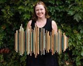Madein25-28weeks- Custom 30 inch Sound Wave Art, Wood Soundwave Wall Sculpture,  Music Song Art, Sound Diffuser