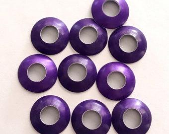Aluminum Bead Caps, Purple, 1 pair (2 caps), 13mm