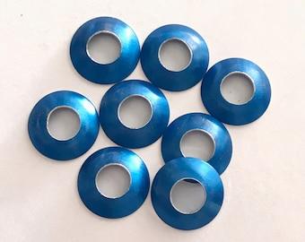 Aluminum Bead Caps, Royal Blue, 1 pair (2 caps), 13mm