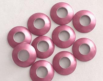 Aluminum Bead Caps, Pastel Pink, 1 pair (2 caps), 13mm
