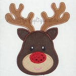Christmas Reindeer Embroidery Design Machine Applique