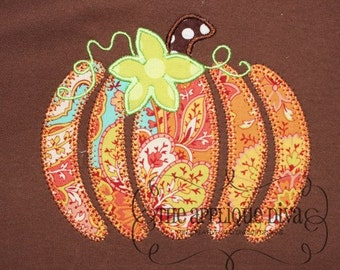 Fall Thanksgiving  Pumpkin Pieces Digital Embroidery Design Machine Applique