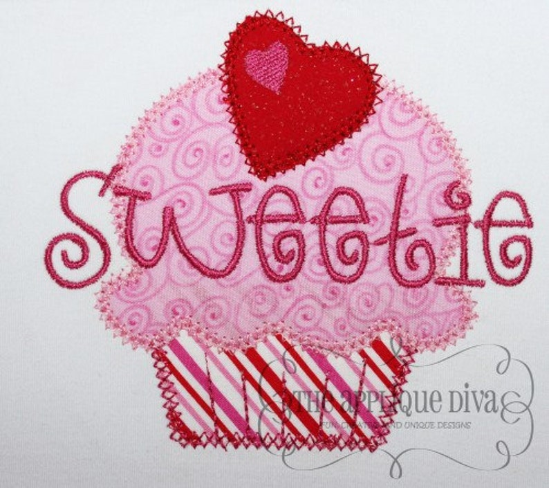 Valentine's Day Sweetie Digital Embroidery Design Machine image 0