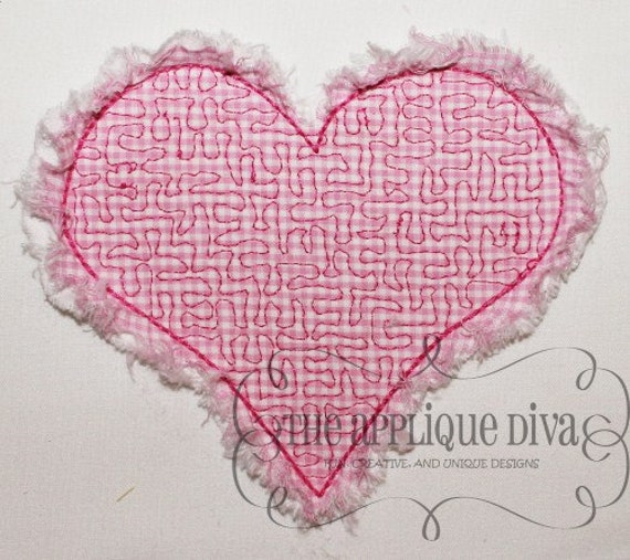 Valentine S Day Stipple Heart Digital Embroidery Design Etsy