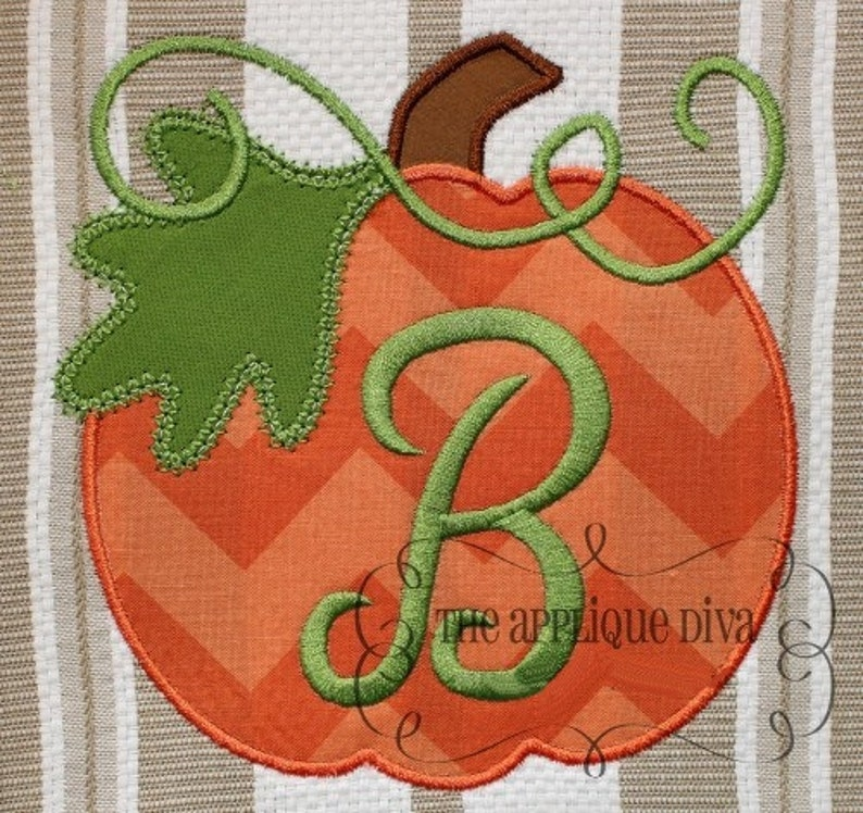 Fall Thanksgiving Great Pumpkin Digital Embroidery Design image 0
