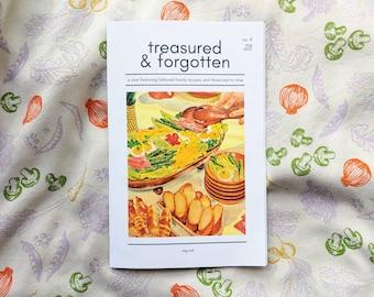 Treasured & Forgotten #9 Recipe Zine -- Vegetables