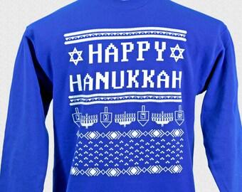 5fe2160fd Hanukkah Sweater Funny Happy Hanukkah Sweater Judaica Ugly Hanukkah Sweater  Sweatshirt Unisex Adults Jewish Family Shirt Set