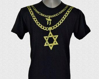 JEW CHAINZ two chainz star of david chai necklace gold chain shirt hanukkah shirt judaica gift for jewish coworker jewish boyfriend