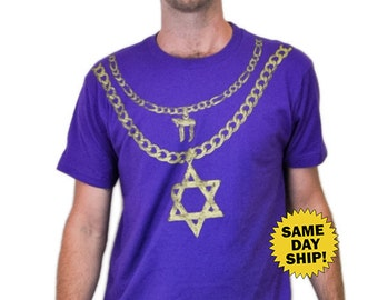 JEW CHAINZ two chainz star of david chai necklace gold chain shirt