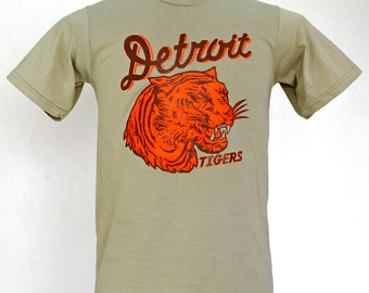 174820a35f5 Detroit Tigers    vintage 1935 penant inspired design    xs-2xl    khaki  shirt