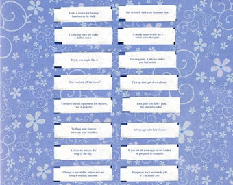 photo regarding Printable Funny Fortune Cookie Sayings Pdf known as Fortune sayings Etsy
