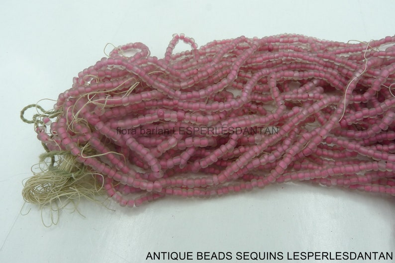 antique hank 1920s seed glass beads 140 1.7mm