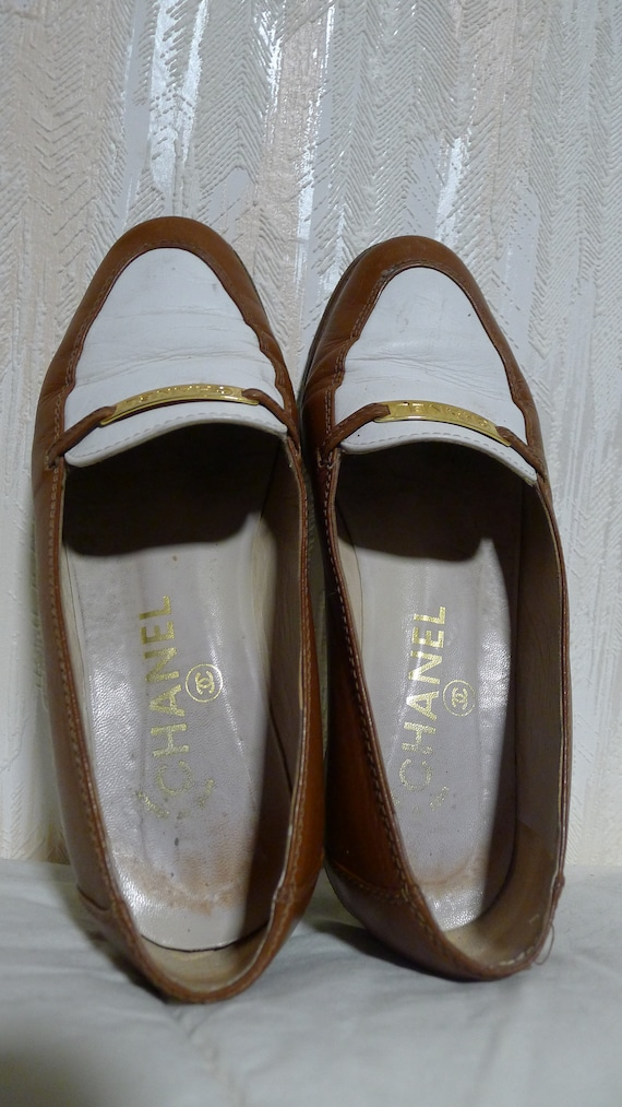 chanel shoes mocassins vintage
