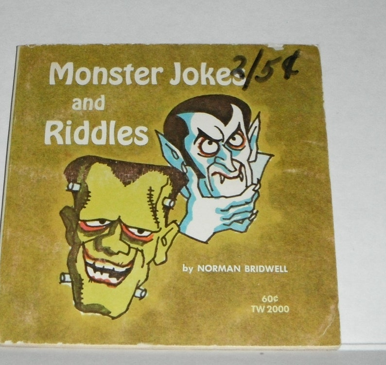 Monster Jokes and Riddles by Norman Bridwell Vintage Scholastic Softcover  Book TW 2000
