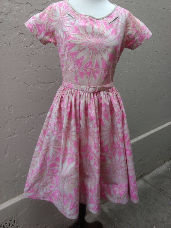 1960s printed cotton frock