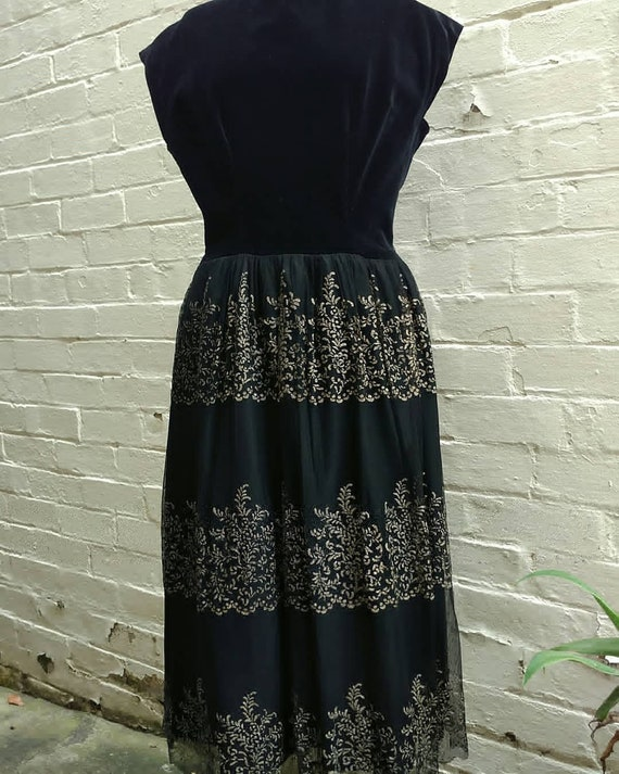 Late 1940s evening gown