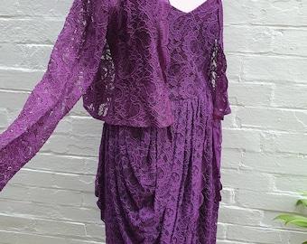Purple Lace Gown