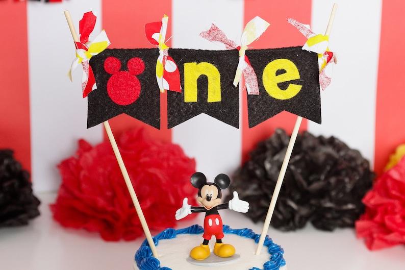 Astounding Mickey Mouse First Birthday Cake Topper First Birthday Cake Etsy Funny Birthday Cards Online Fluifree Goldxyz