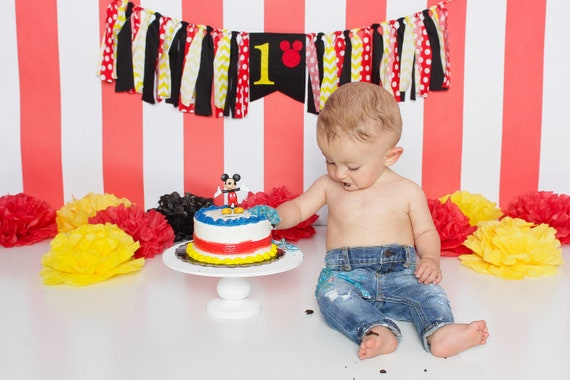 Groovy Mickey Mouse Birthday Banner First Birthday Banner Mickey Mouse Funny Birthday Cards Online Sheoxdamsfinfo