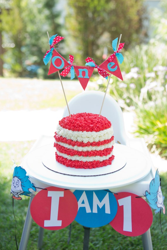 Cat In The Hat Cake Topper Dr Suess First Birthday