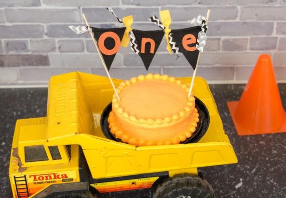 Pleasing Boy 1St Birthday Cake Topper Construction Cake Smash Funny Birthday Cards Online Fluifree Goldxyz