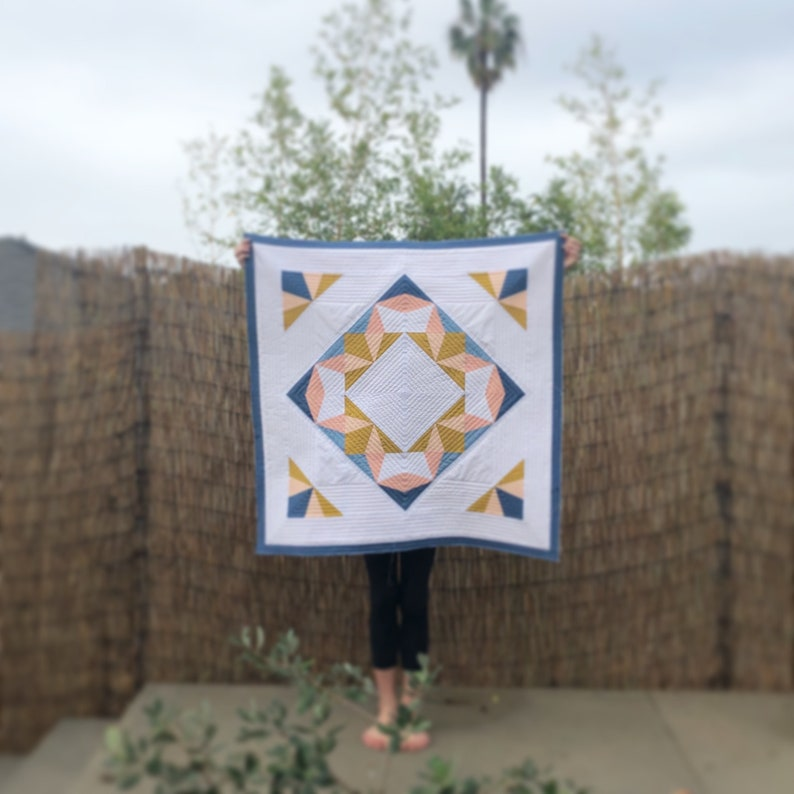 Instant PDF Portal Quilt Pattern by Blooming Poppies 36 x image 0