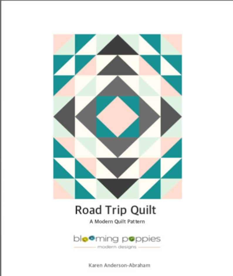 Road Trip Quilt-Instant PDF Download Modern Quilt Pattern by image 0