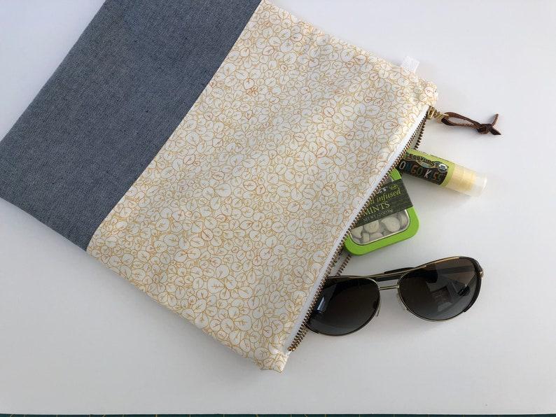 Handmade Modern Foldover Clutch Purse with Leather Trim and Designer Fabrics The Amelia