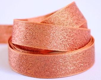 Rose gold ribbon rose gold sparkle ribbon, rose gold metallic ribbon, rose gold shimmer ribbon, rose gold wedding ribbon, wedding trim,