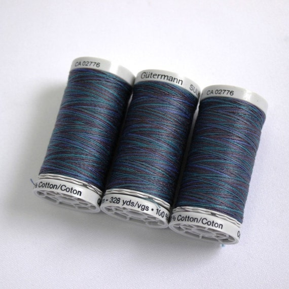 Variegated Cotton Thread Gutermann Variegated Sulky Cotton Etsy