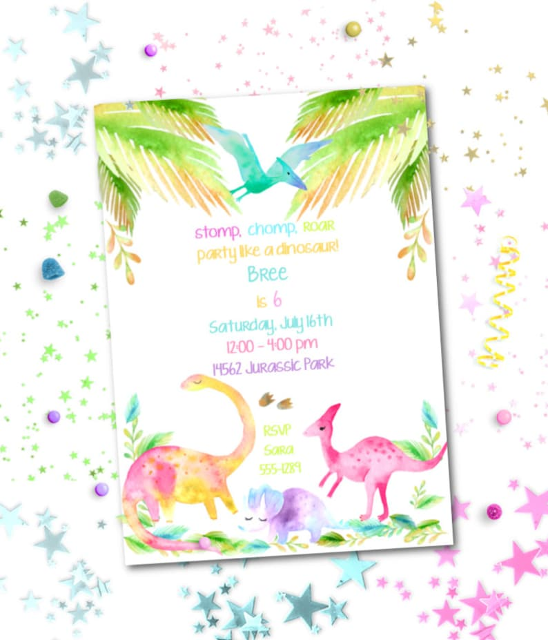 photo regarding Dinosaur Template Printable identify Dinosaur Social gathering Invitation ~ Editable do it yourself Template ~ Printable Down load