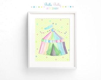 Circus Tent Print 8x10 ~ Printable Download