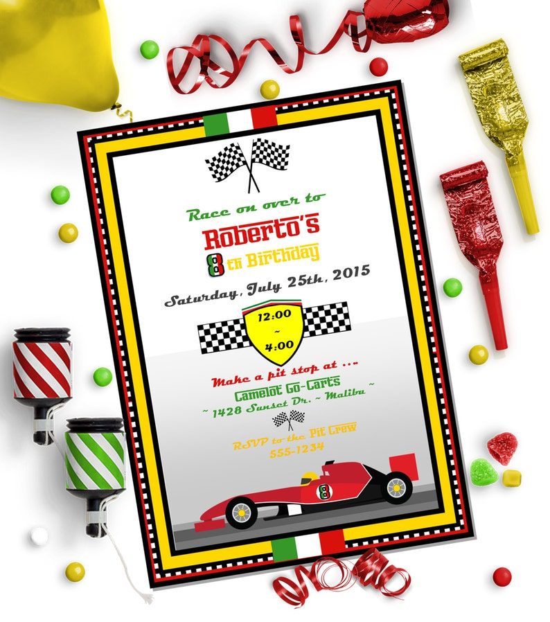picture relating to Race Car Template Printable titled RACE Vehicle INVITATION - Editable do-it-yourself Template ~ Printable Obtain