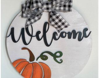 """Welcome Fall 15"""" Door Hanger"""