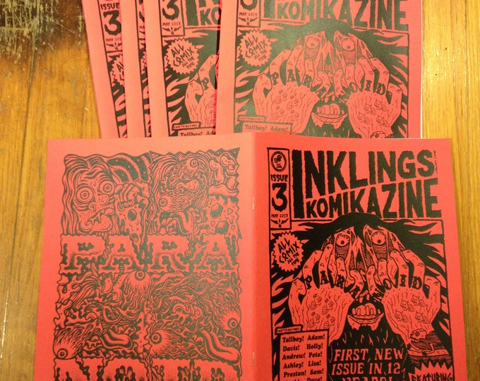 NEW INKLINGS komikazine!!! (comic zine) 12 artists screen printed cover
