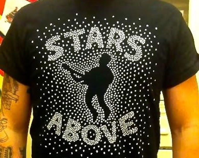 STARS ABOVE heroin charity boston punk band tee: proceeds to charity and publication of frontman's unreleased work